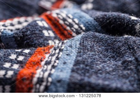 Wool sweater pattern as a background, close up
