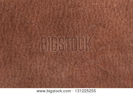 Brown leather reverse side background, copy space