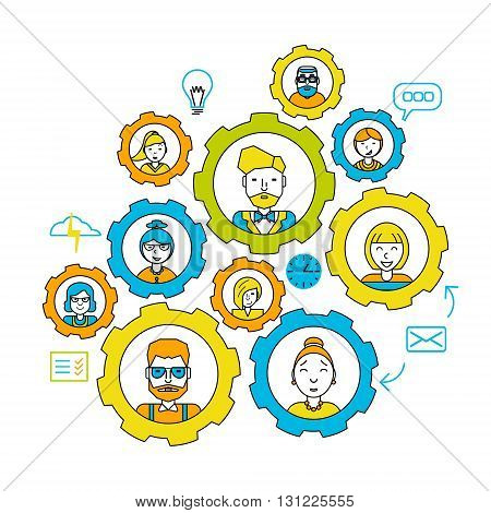 Teamwork concept. Working together. Collaboration business teamwork. Business people teamwork concept human resources career opportunities team skills management website