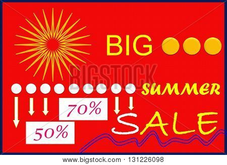 Big summer sale  In the picture with the growing interest shown big summer sales.