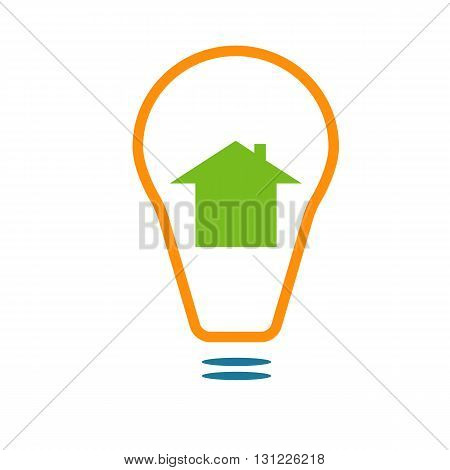 Electricity supply sign or smart house icon