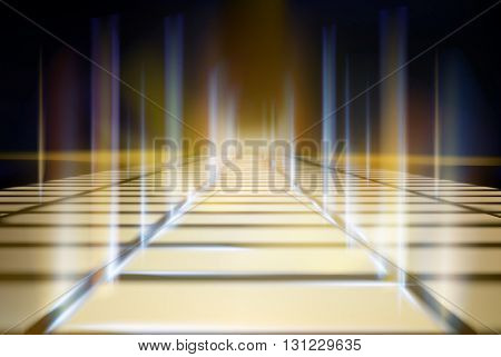 Virtual projection screen. Vector illustration.