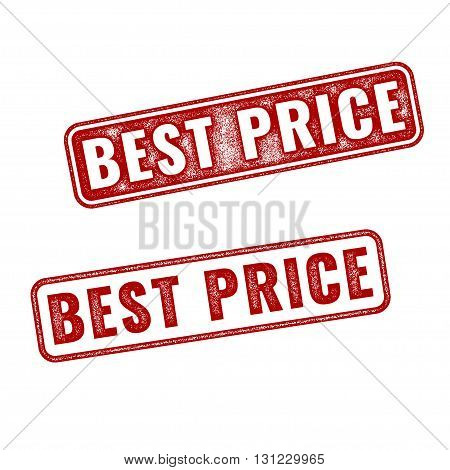 Set of realistic textured vector Best Price grunge rubber stamps isolated on white background. Best Price stamp