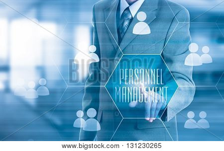 Human resources HR CRM. Concept personnel management