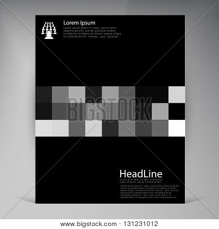 Abstract vector modern flyers brochure. Business brochure flyer design layout template in A4. Squares