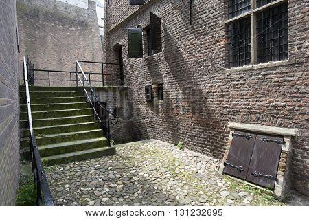 Medieval building in Nijmegen in the Netherlands