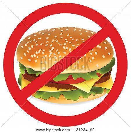 Hamburger for your design, don't eat junk food