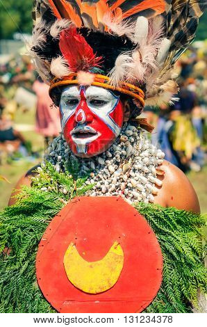 Traditional Costume In Papua New Guinea