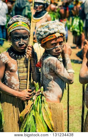 Two Young Boys In Papua New Guinea