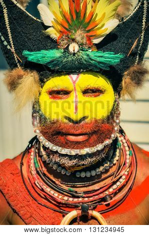 Man With Smile In Papua New Guinea
