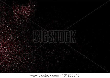 Abstract Red And Pink Paint Holi. Bitmap Illustration.