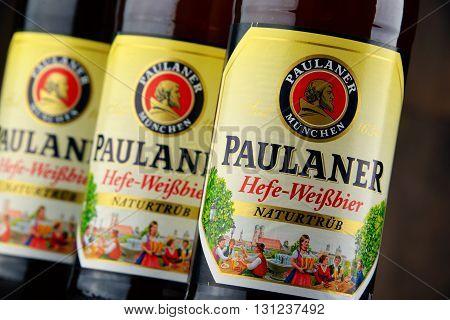Bottles Of Paulaner Hefe Weissbier
