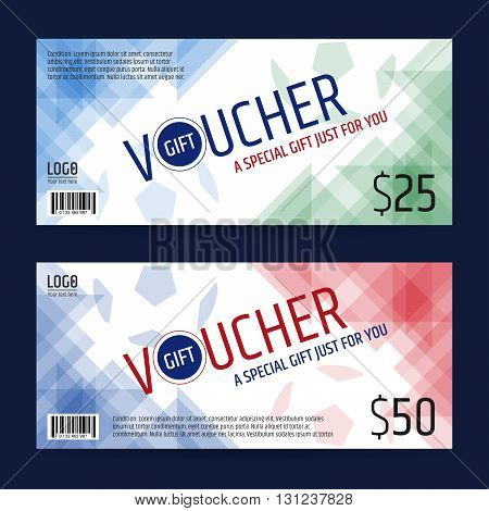 Gift certificate voucher coupon template in sport theme