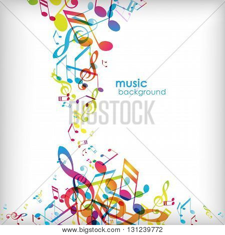 Abstract background with random tunes. Vector art
