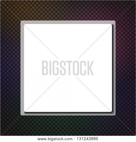 Abstract square background. Vector paper illustration.