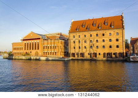 GDANSK, POLAND - OCTOBER 20: Baltic Philharmonic Hall located on the island Olowianka on October 20, 2012 in Gdansk.