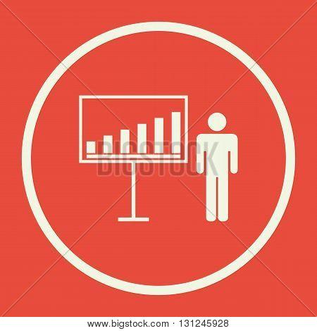 Presentation Icon In Vector Format. Premium Quality Presentation Symbol. Web Graphic Presentation Si