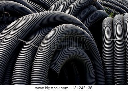 Pipeline black plastic background theme industries objects.