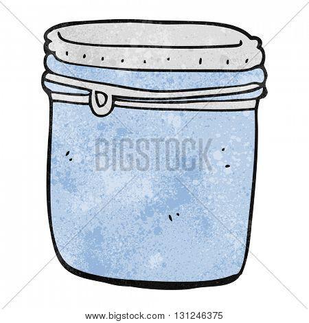 freehand textured cartoon jar