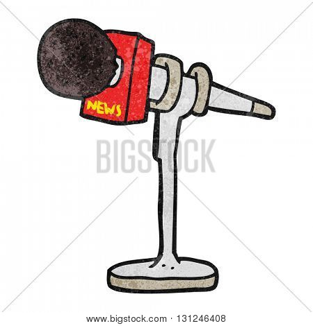 freehand textured cartoon microphone