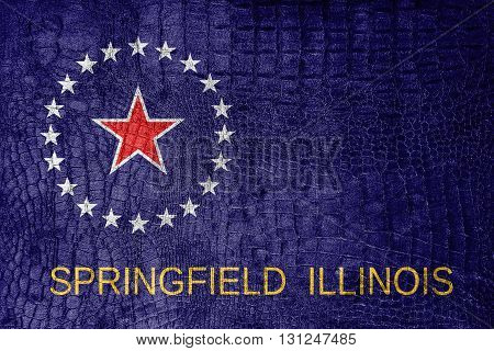 Flag Of Springfield, Illinois, On A Luxurious, Fashionable Canva