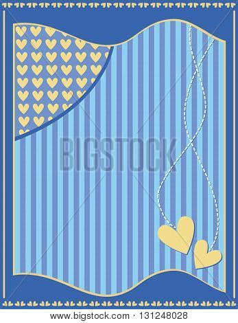 Romantic modern background with hearts and stripes