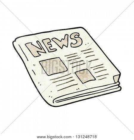freehand textured cartoon newspaper