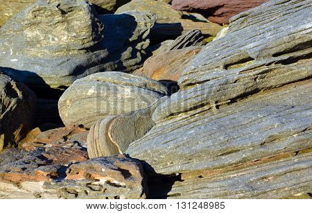 Patterns and shapes of weathered coastal sandstone