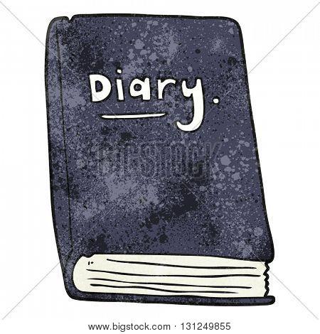 freehand textured cartoon diary