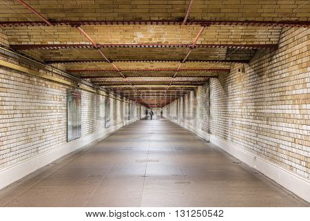 Pedestrian tunnel in South Kensington, London, UK