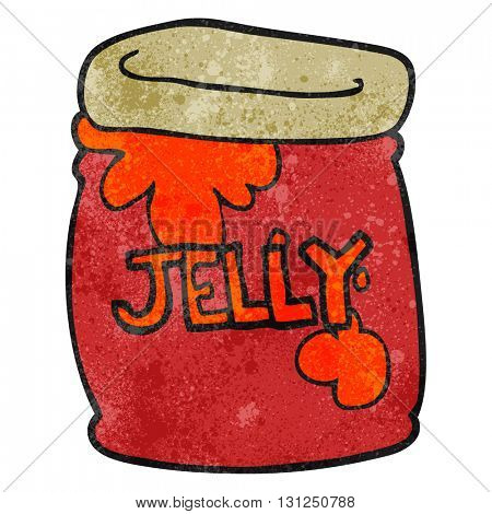 freehand textured cartoon jar of jelly