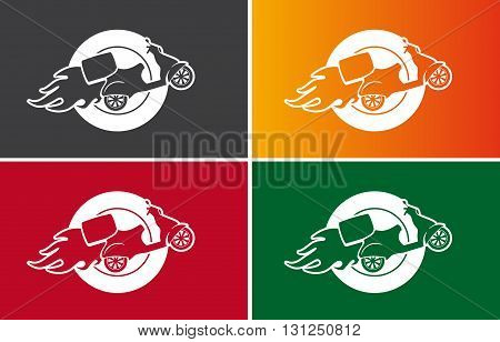 Vector Scooter sign - Fast Delivery Service Symbol
