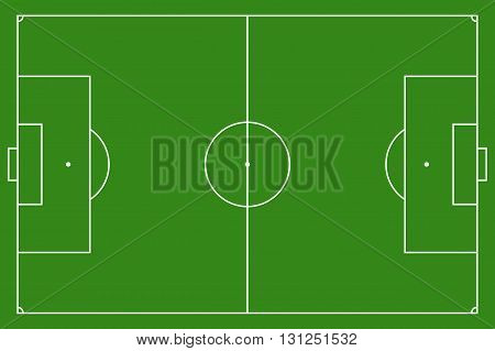 Soccer field, illustration. Football field with lines and areas. Marking the football field.