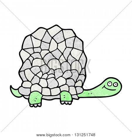 freehand textured cartoon tortoise