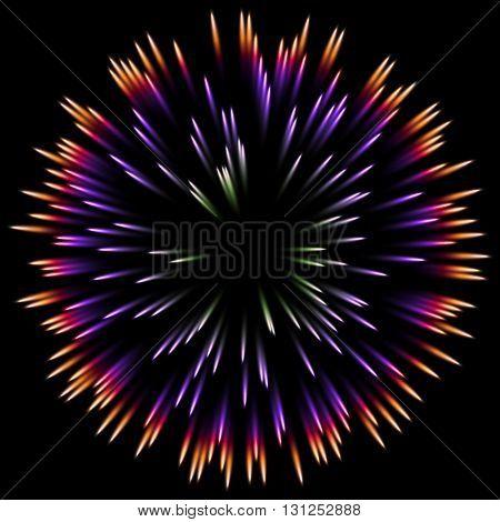 color design with a burst. Holiday fireworks