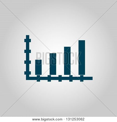 Bar Chart Icon In Vector Format. Premium Quality Bar Chart Symbol. Web Graphic Bar Chart Sign On Gre