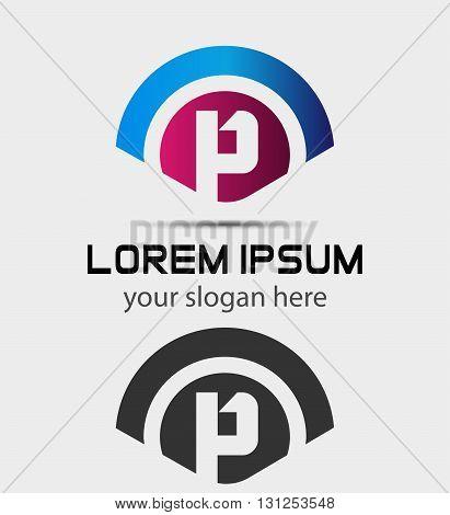 Letter P Logo Design.Creative Symbol of letter P
