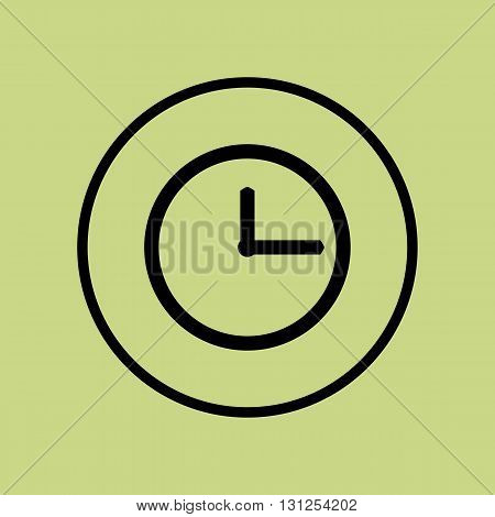 Clock Icon In Vector Format. Premium Quality Clock Symbol. Web Graphic Clock Sign On Green Circle Ba