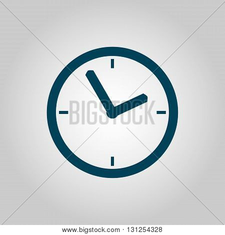 Clock Icon In Vector Format. Premium Quality Clock Symbol. Web Graphic Clock Sign On Grey Background