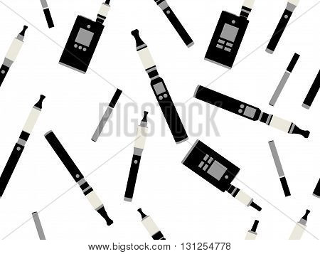 Electronic Cigarettes Seamless Pattern, E-cigarette Seamless Pattern, Smoking Electronic Cigarette,