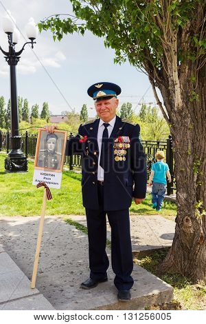 The Veteran Of The Great Patriotic War With Medals
