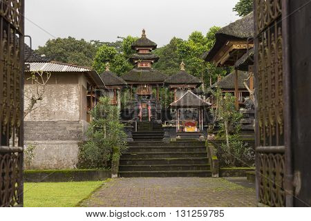 Inner gateway in the Pura Besakih temple compound the largest Hindu Temple in Bali Indonesia