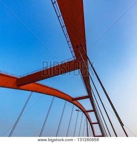 modern bridge detail,yangtze river bridge