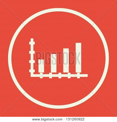 Bar Chart Icon In Vector Format. Premium Quality Bar Chart Symbol. Web Graphic Bar Chart Sign On Red