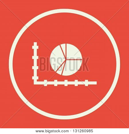 Pie Chart Icon In Vector Format. Premium Quality Pie Chart Symbol. Web Graphic Pie Chart Sign On Red