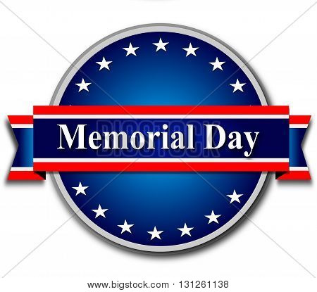 Memorial day, blue tag, web banner, ribon