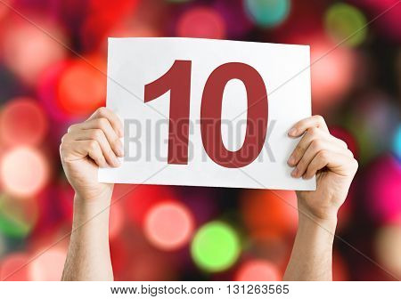 10 placard with bokeh background
