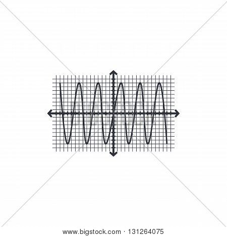 Sinusoid Icon In Vector Format. Premium Quality Sinusoid Symbol. Web Graphic Sinusoid Sign On White