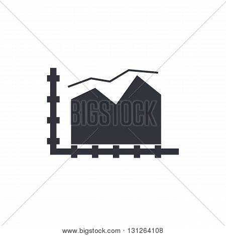 Area Chart Icon In Vector Format. Premium Quality Area Chart Symbol. Web Graphic Area Chart Sign On