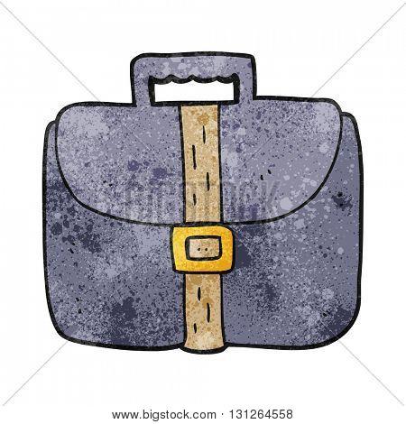 freehand textured cartoon briefcase